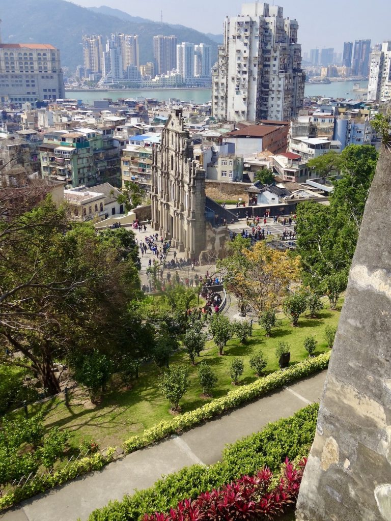St Pauls Ruins from Monte Fort Macau.