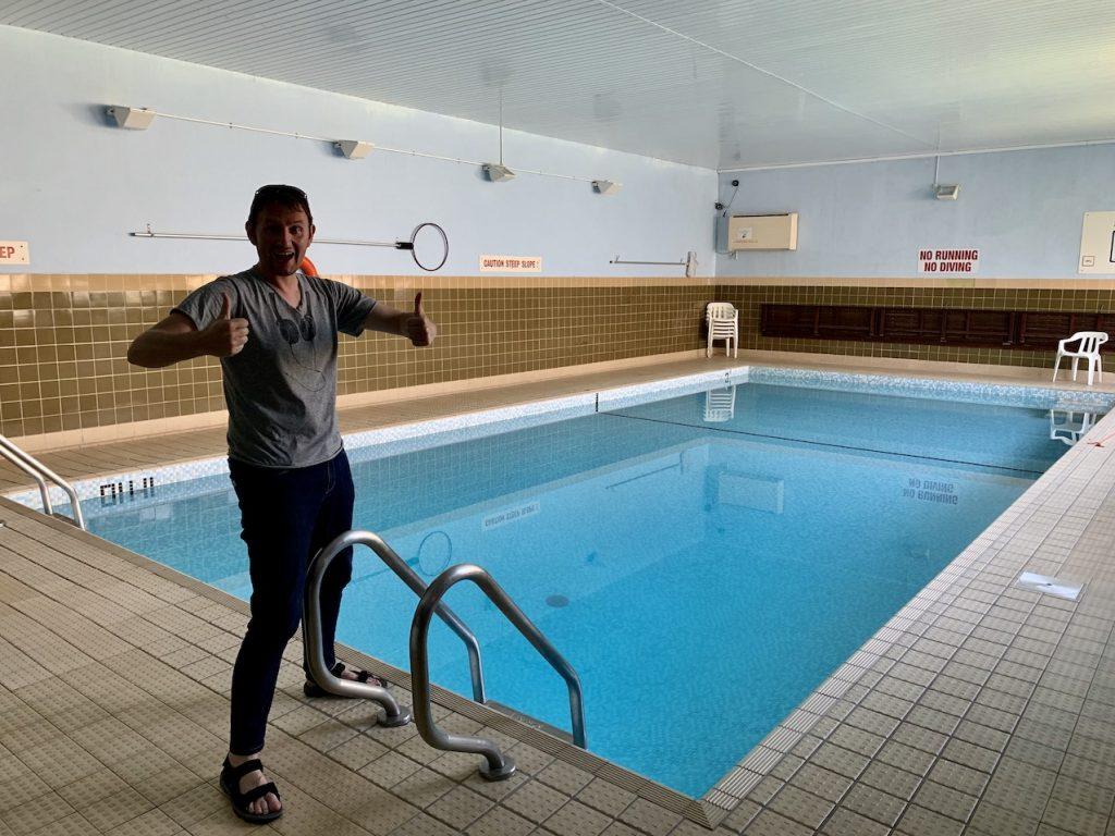 Swimming pool The Lancaster Hotel Oban.