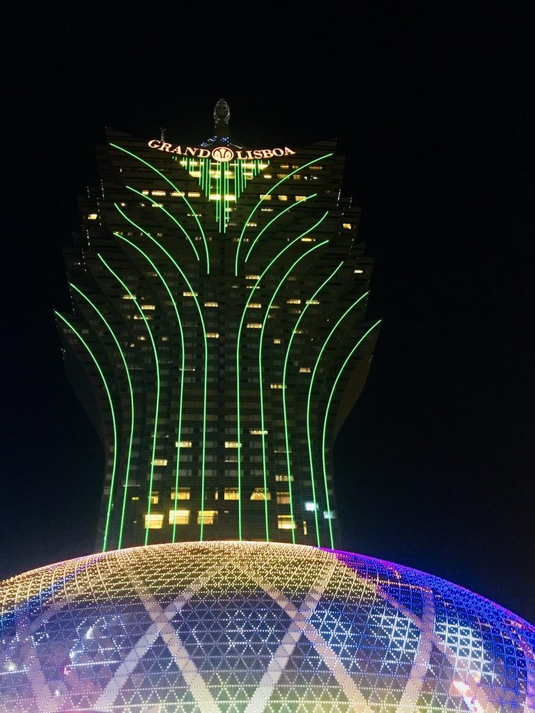 The Grand Lisboa Macau by night