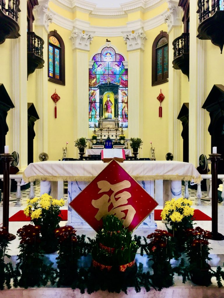 The altar at Saint Lawrence's Church Macau.