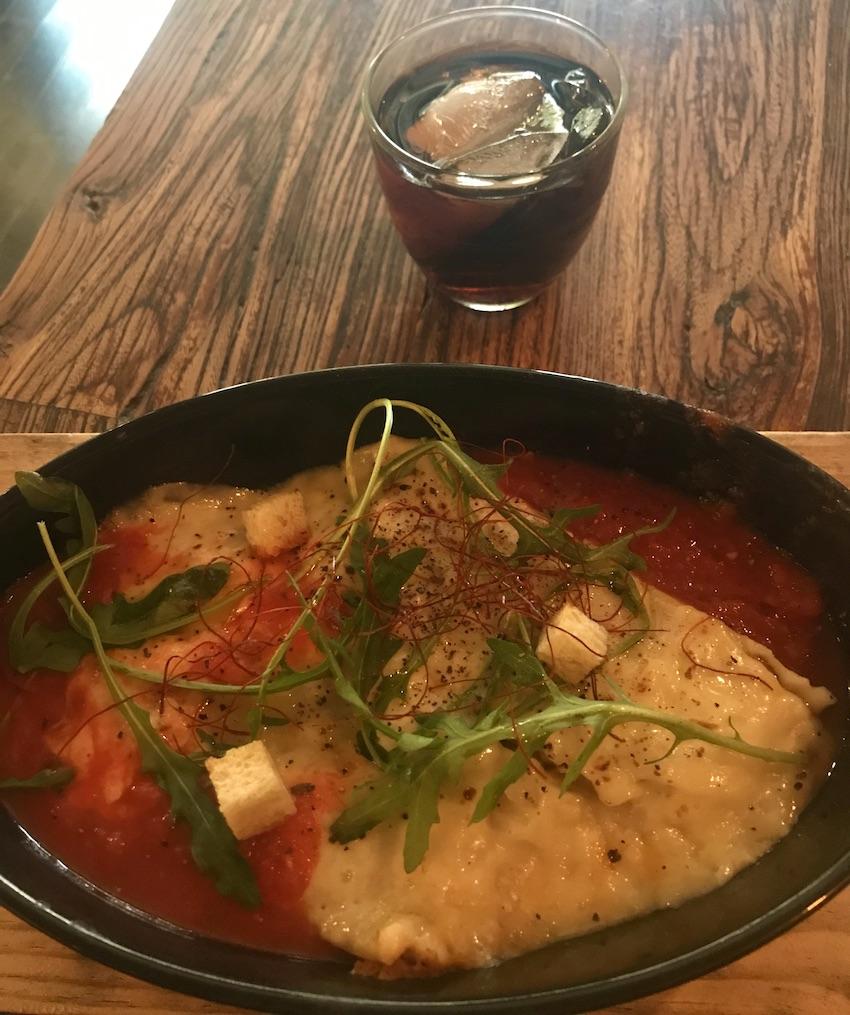 Tuna lasagne A Cote Restaurant Shanghai.