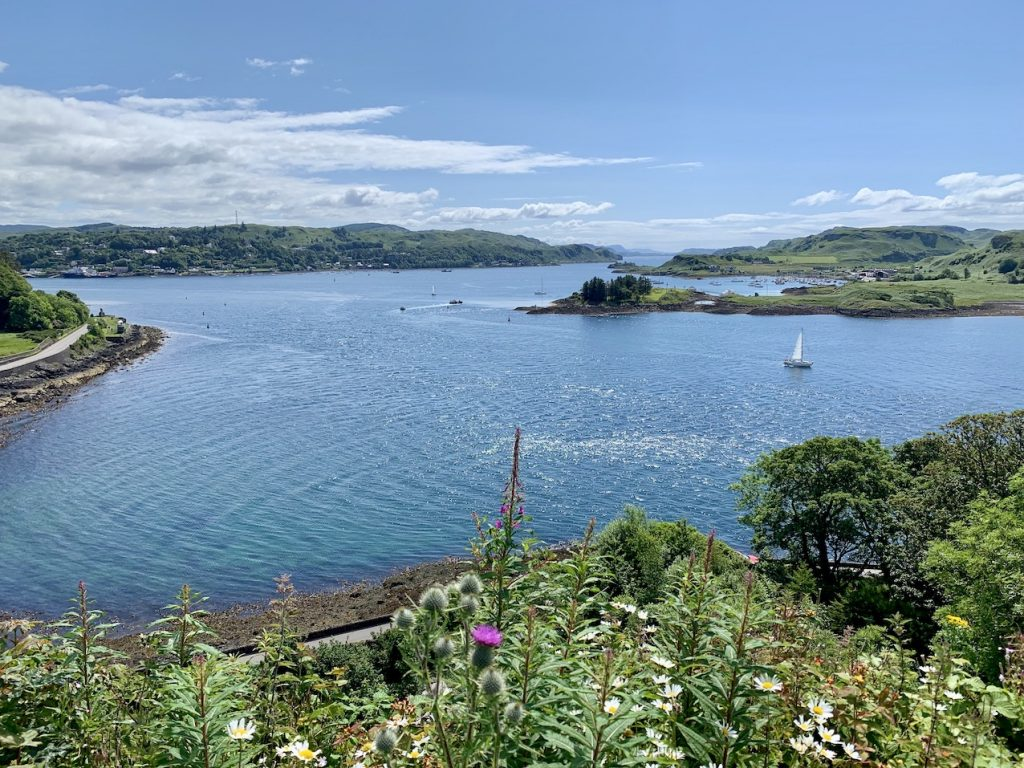 View over Oban Bay from Dunollie Castle.