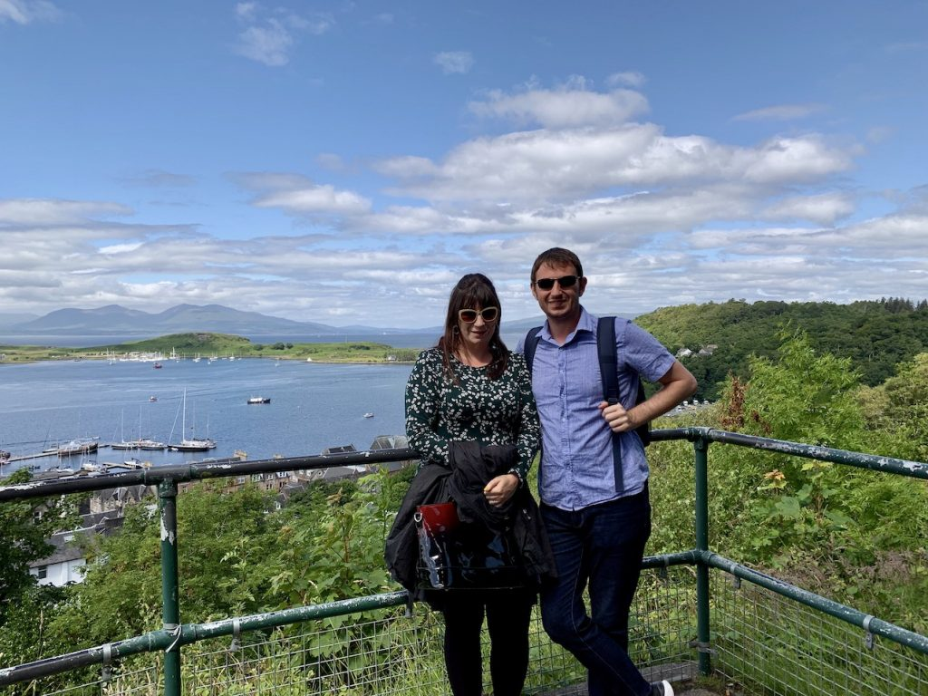Views over Oban Bay from McCaig's Tower.