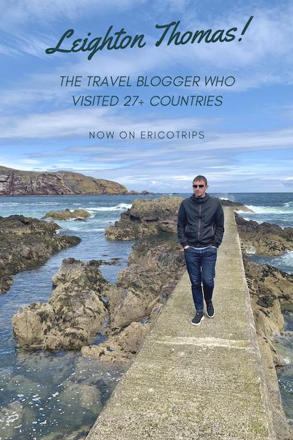 Leighton Thomas travel blogger interview with Ericotrips