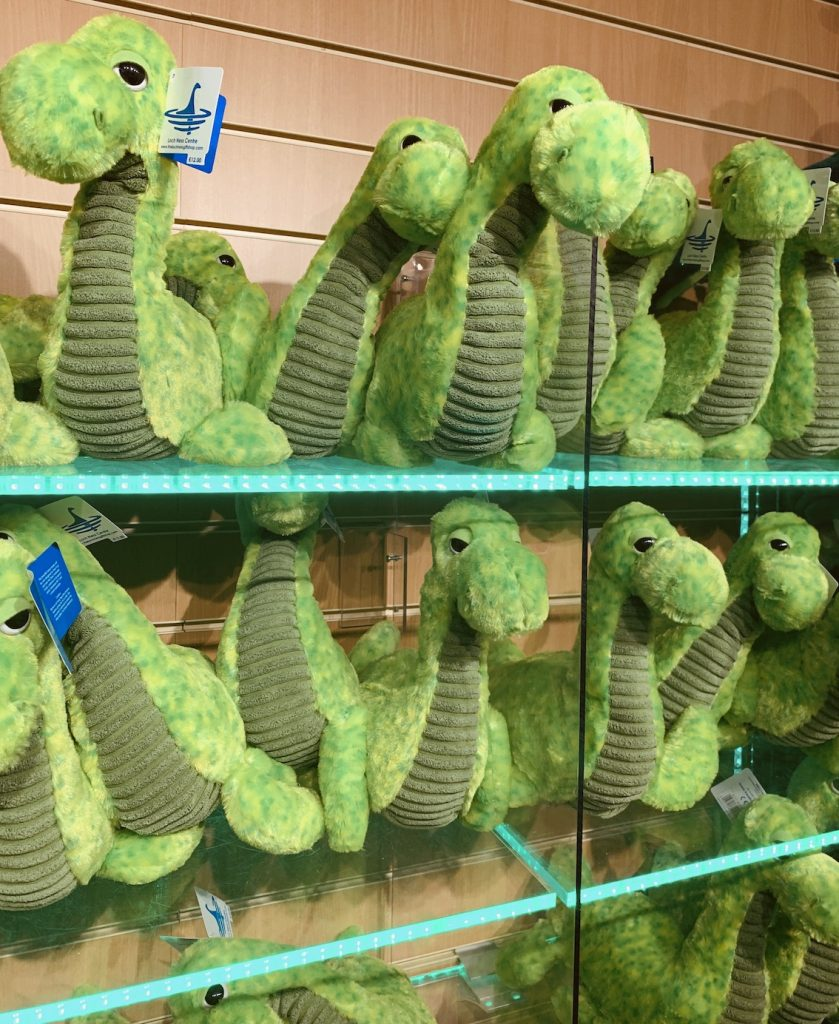 Nessie soft toys Loch Ness Centre and Exhibition