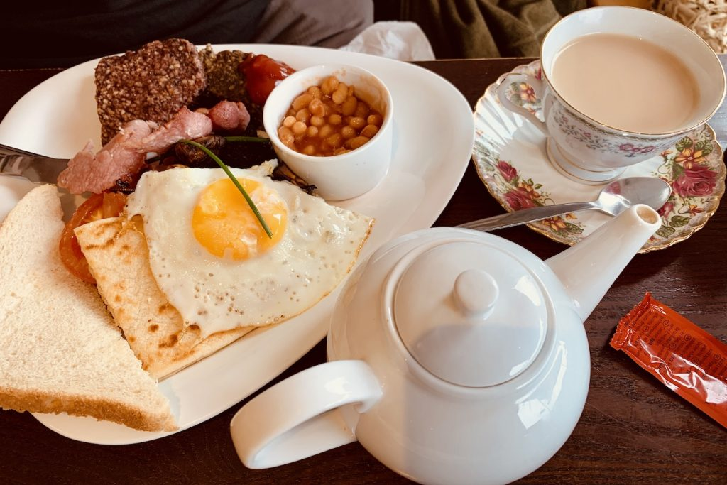 Traditional Scottish Breakfast Cobbs Cafe Fort Augustus