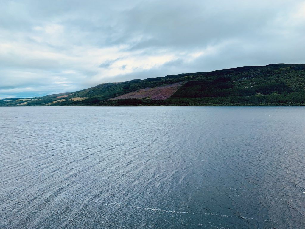 View over Loch Ness from Urquhart Castle