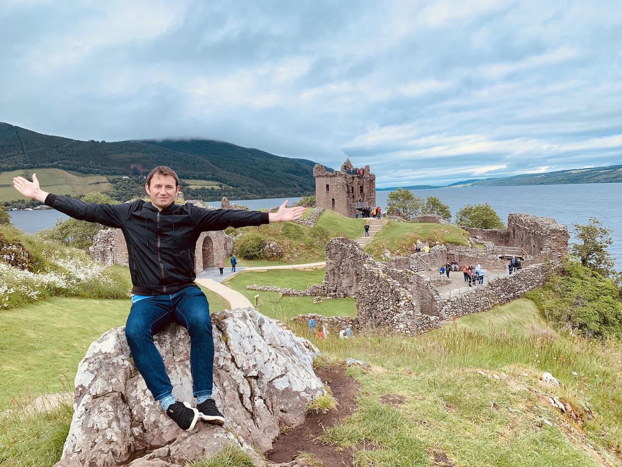 Visit Urquhart Castle Scotland.