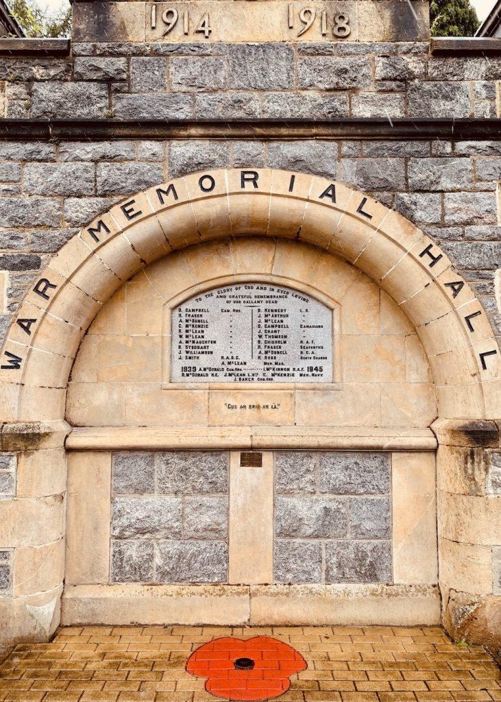 War Memorial Hall Fort Augustus Scotland