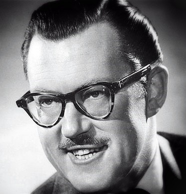 Alan Whicker black and white photograph