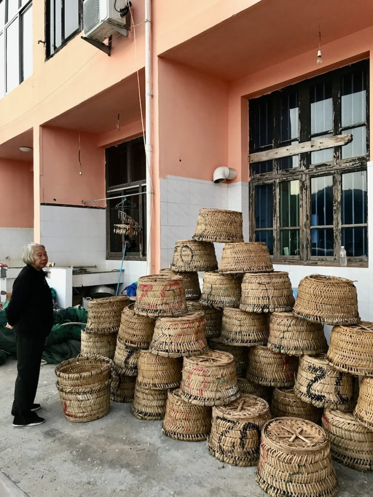 Basket shop Wucheng Village Cangnan County China