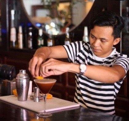 Cocktail time The Village Cafe Siem Reap.