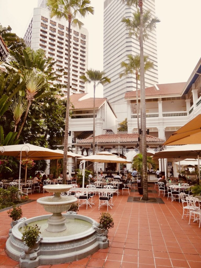 Courtyard Restaurant Raffles Hotel Singapore.