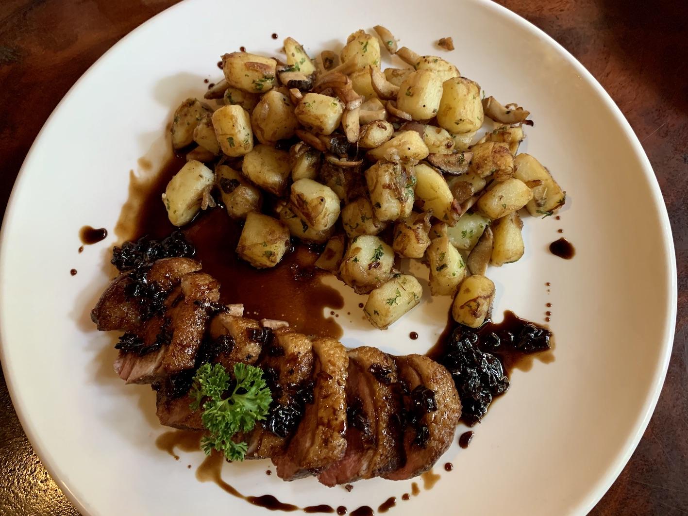 Grilled Duck Breast Ivy Restaurant Siem Reap.