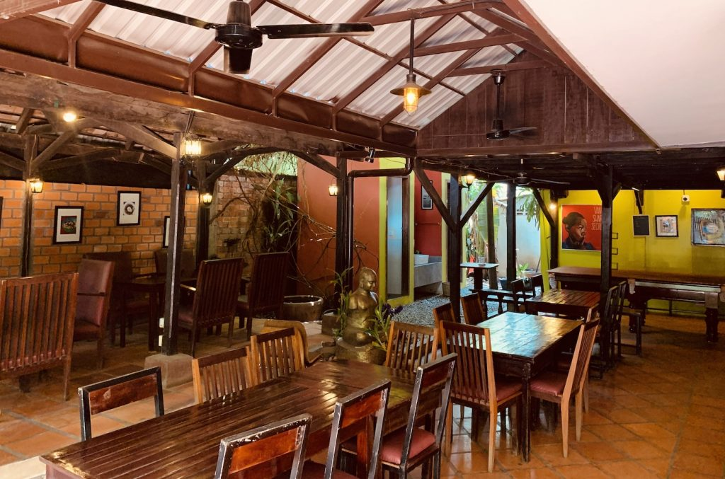 Inside The Ivy Guesthouse and Restaurant Siem Reap.
