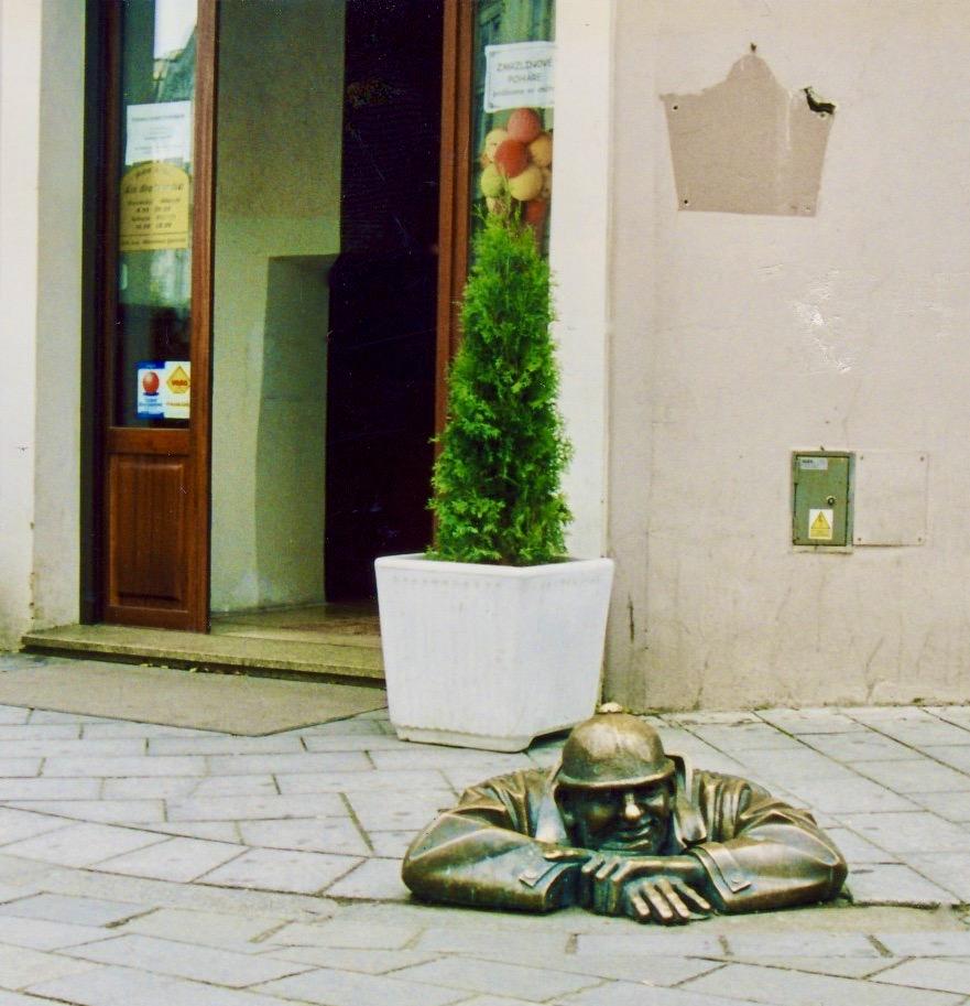 Man at Work Statue Bratislava.
