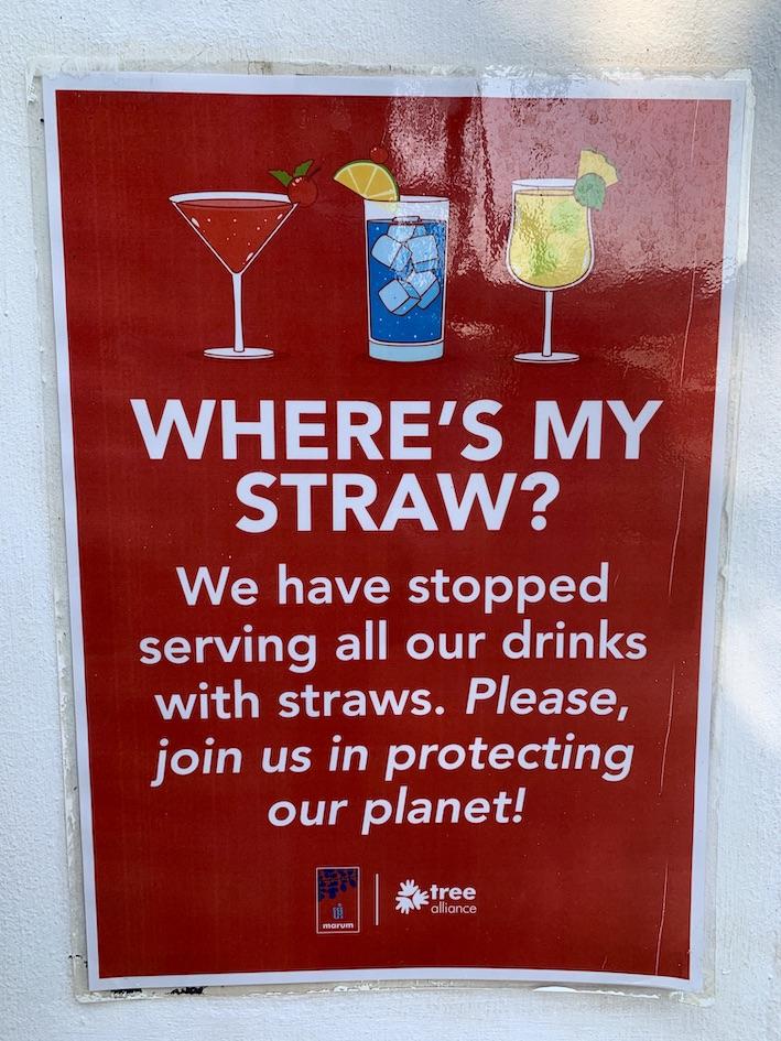 No straws Marum Restaurant Siem Reap