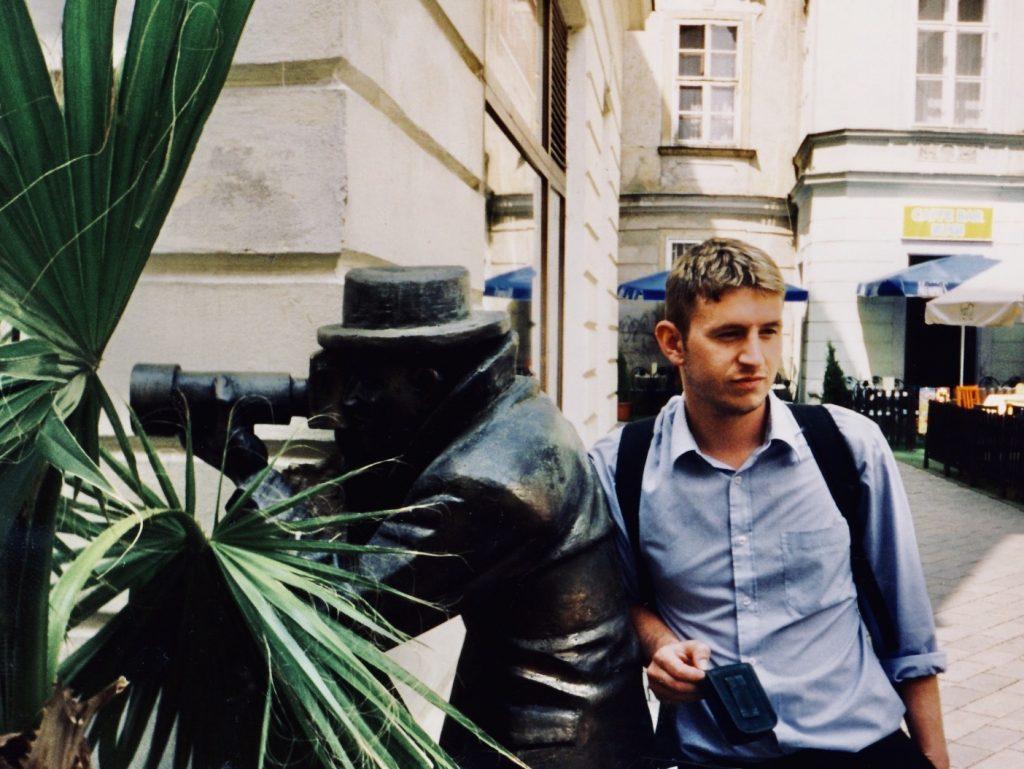 Paparazzi Statue Bratislava.
