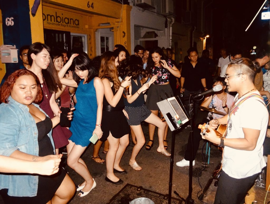 Street party Haji Lane Singapore.