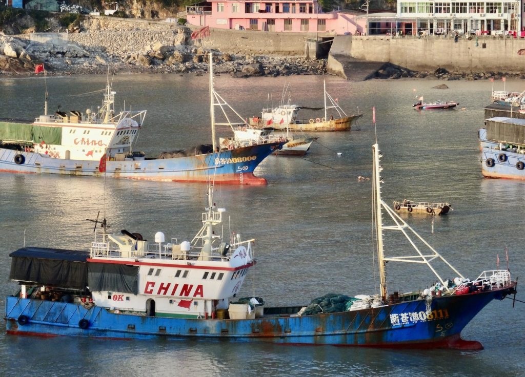 The harbour at Half Moon Bay Cangnan County China.