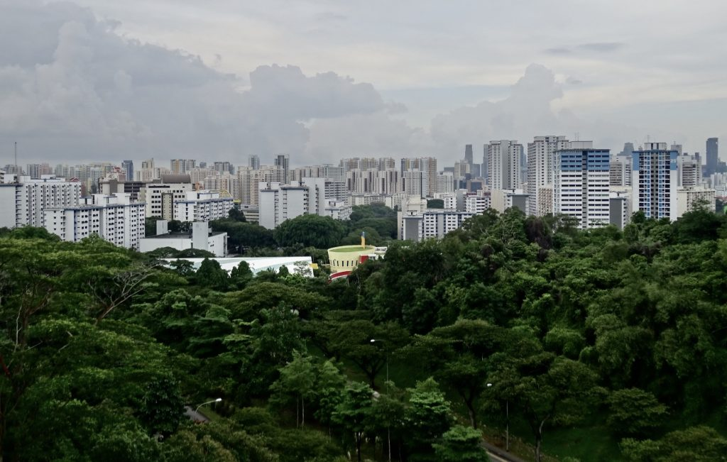 Views over Singapore from The Southern Ridges.