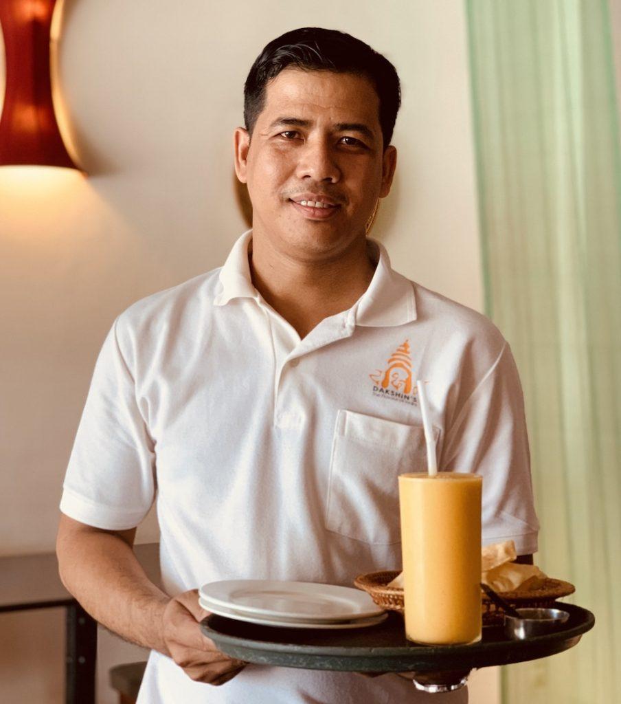 Waiter Dakshin's Indian Restaurant Siem Reap.