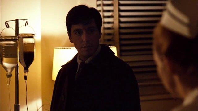 Al Pacino The Godfather hospital scene.