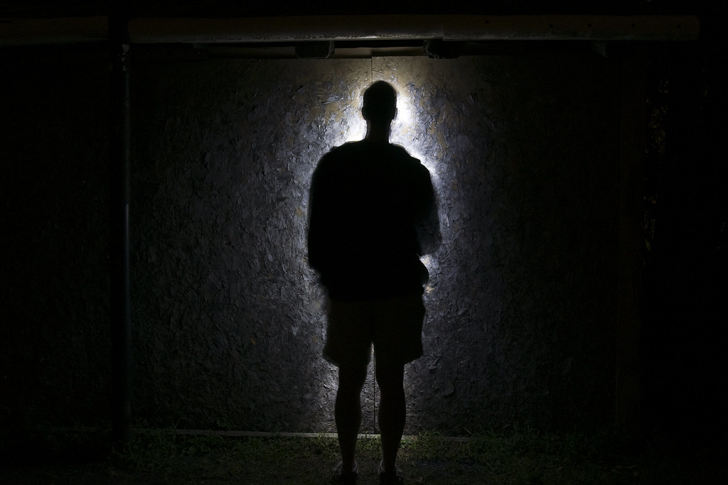 Black shadow figure.