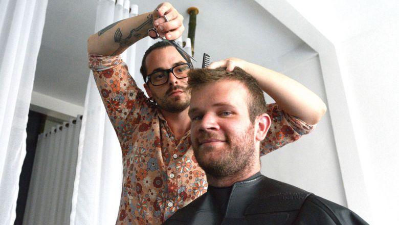 David Stirling hairdresser Siem Reap.