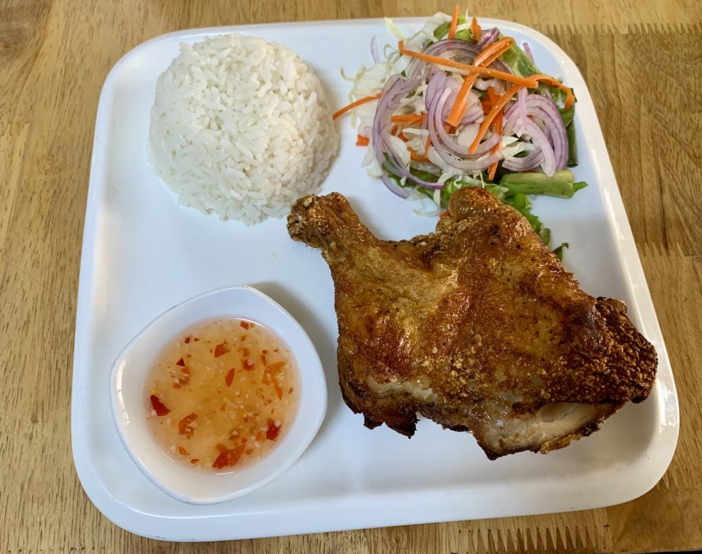 Fried chicken with steamed rice Tevy's Place Siem Reap
