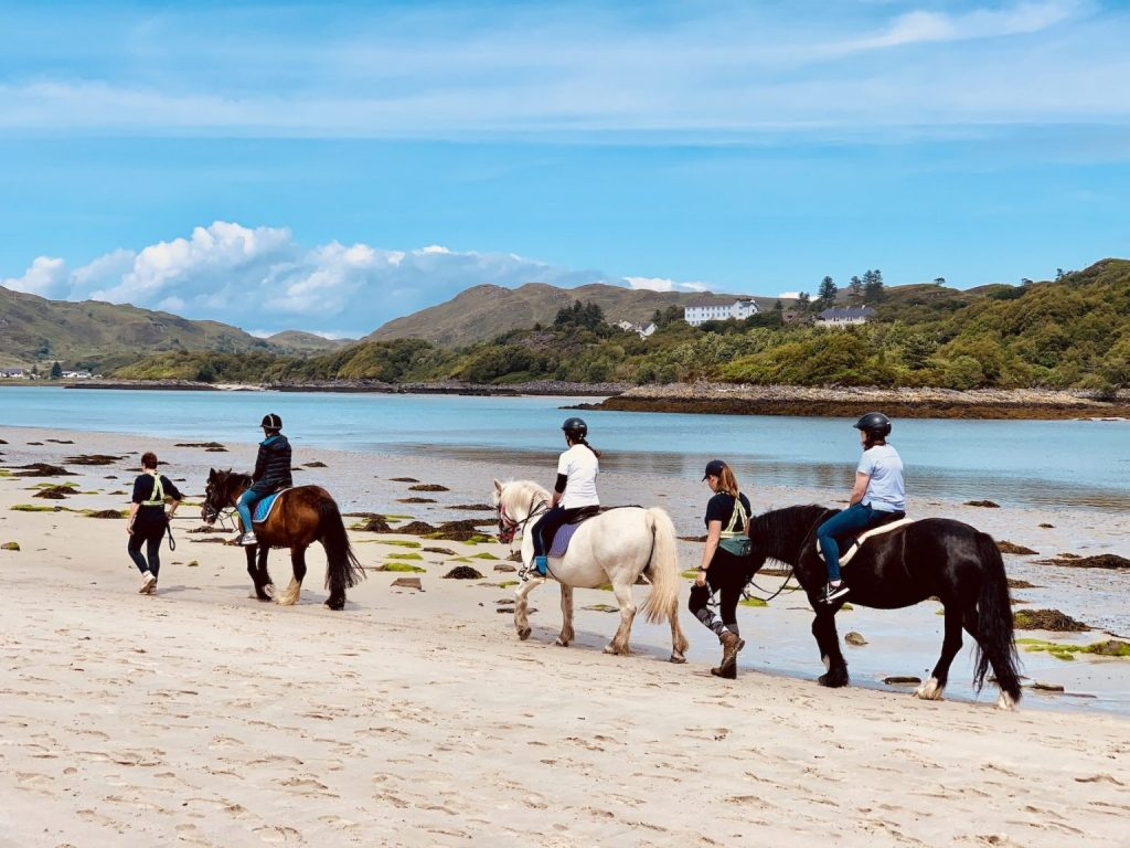 Horses on The Silver Sands of Morar.