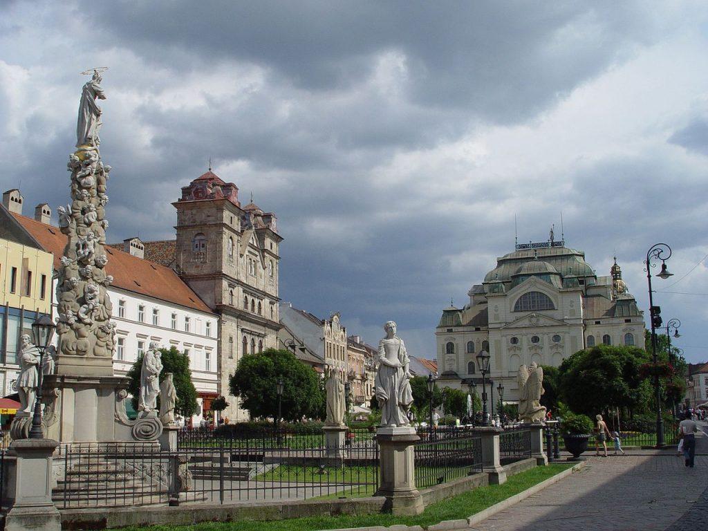 Main street Kosice Slovakia.
