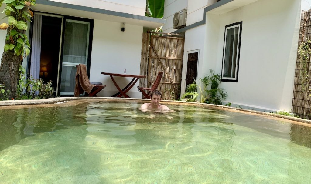 Private pool Apsara Greenland Boutique Siem Reap.