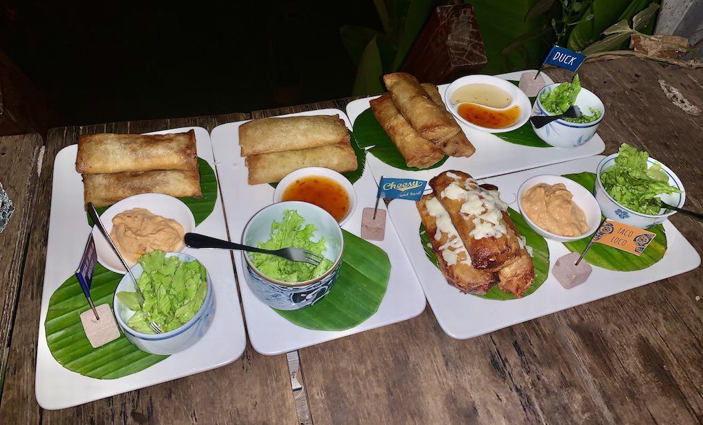 Spring Roll Platter Wild Bar Siem Reap