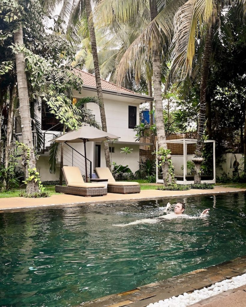 Swimming pool Apsara Greenland Boutique Siem Reap.