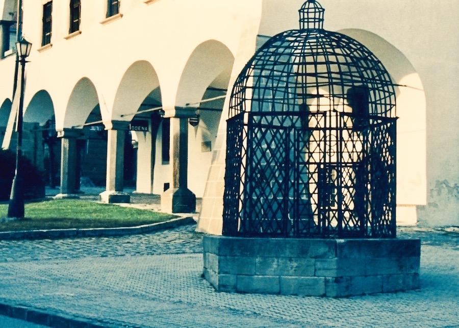 The Cage of Shame Levoca Slovakia.
