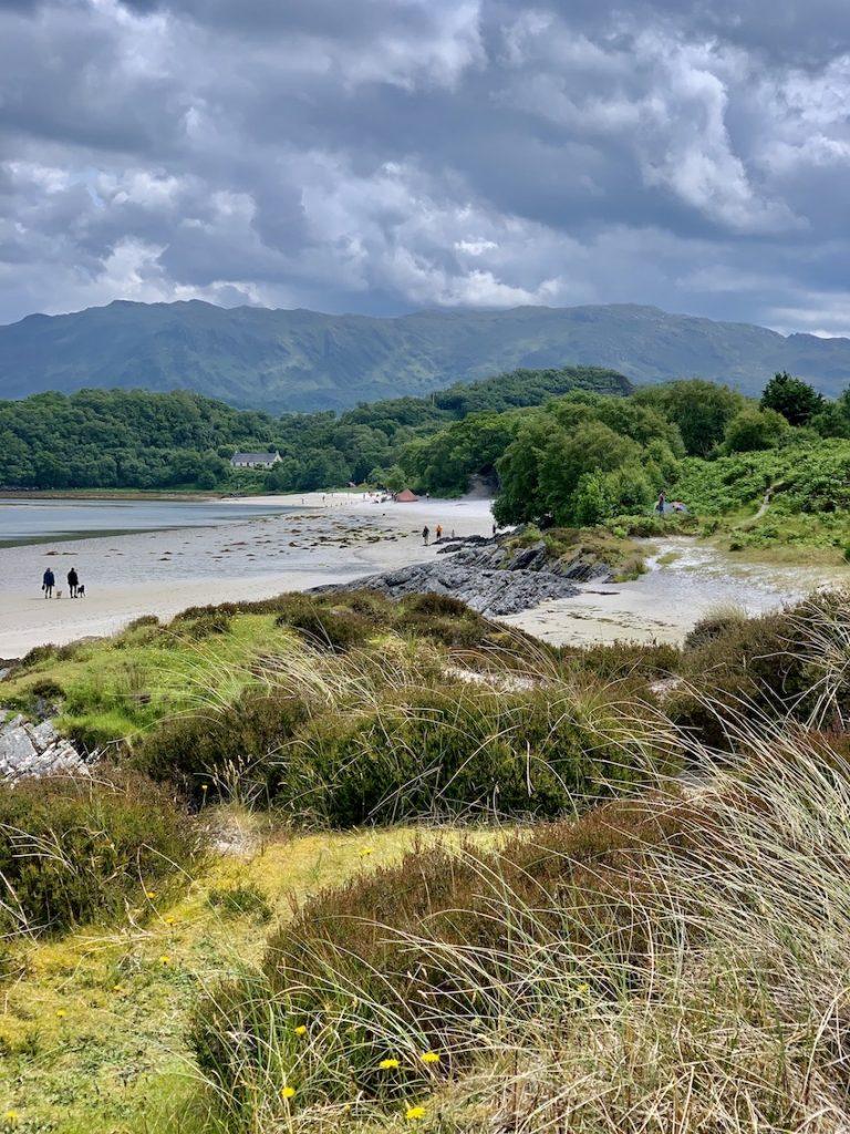 The beautiful Silver Sands of Morar Scotland.
