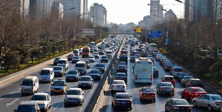 Beijing traffic jam.