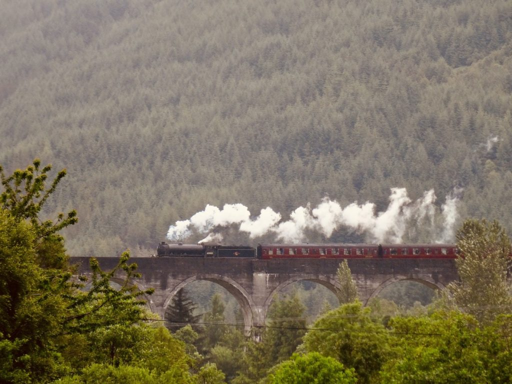 Jacobite Steam Train Glenfinnan Scotland.