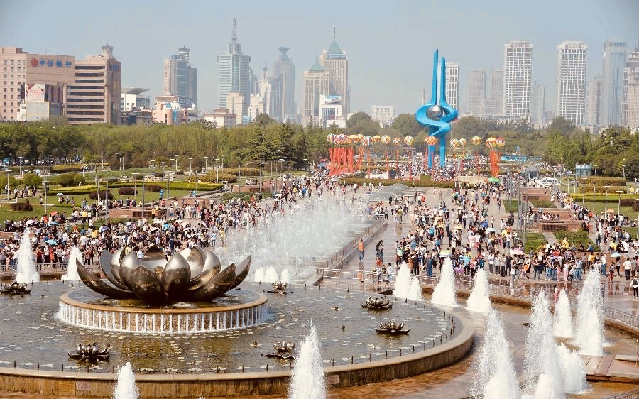 Quancheng Square Jinan China.