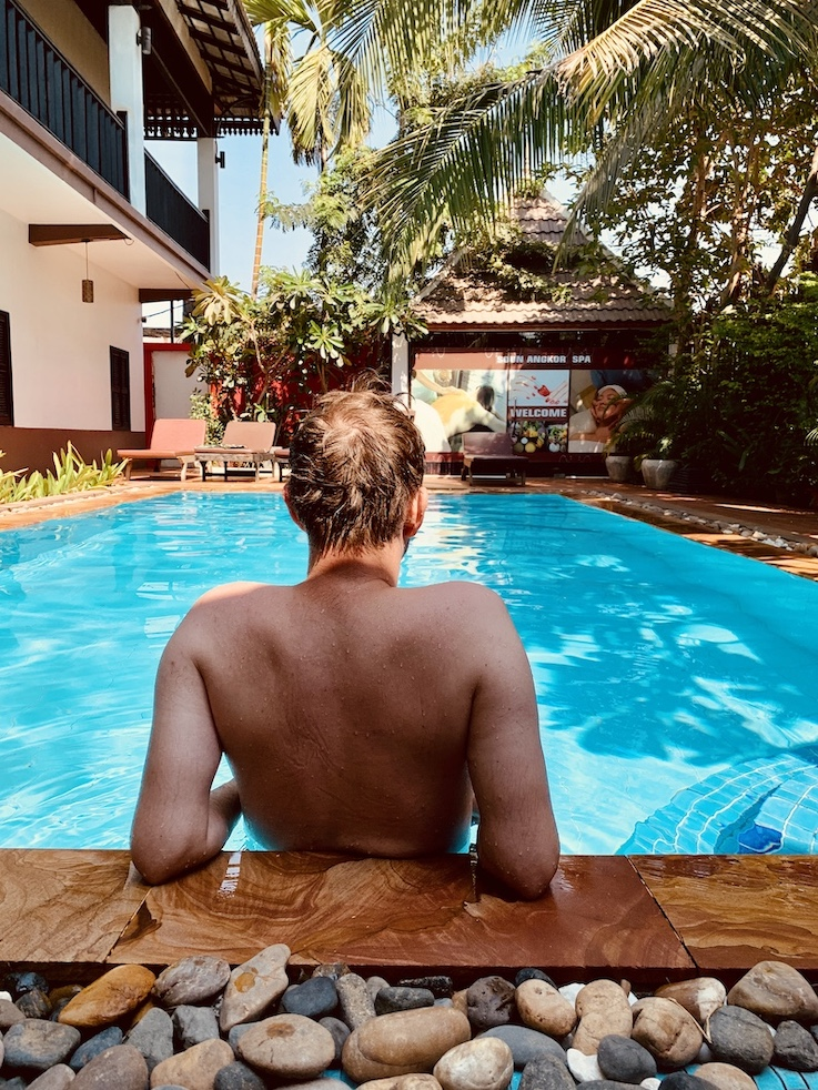 Swimming pool Suon Angkor Boutique Hotel Siem Reap.