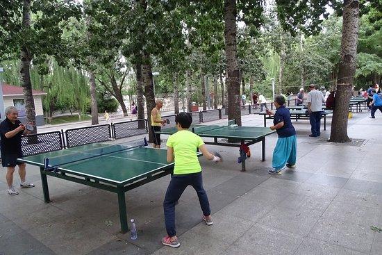 Table tennis park Beijing.