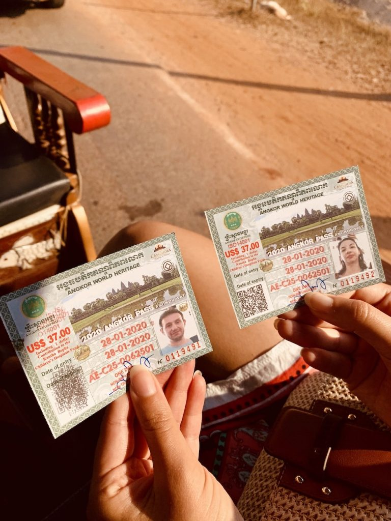 Angkor Pass tickets Cambodia.