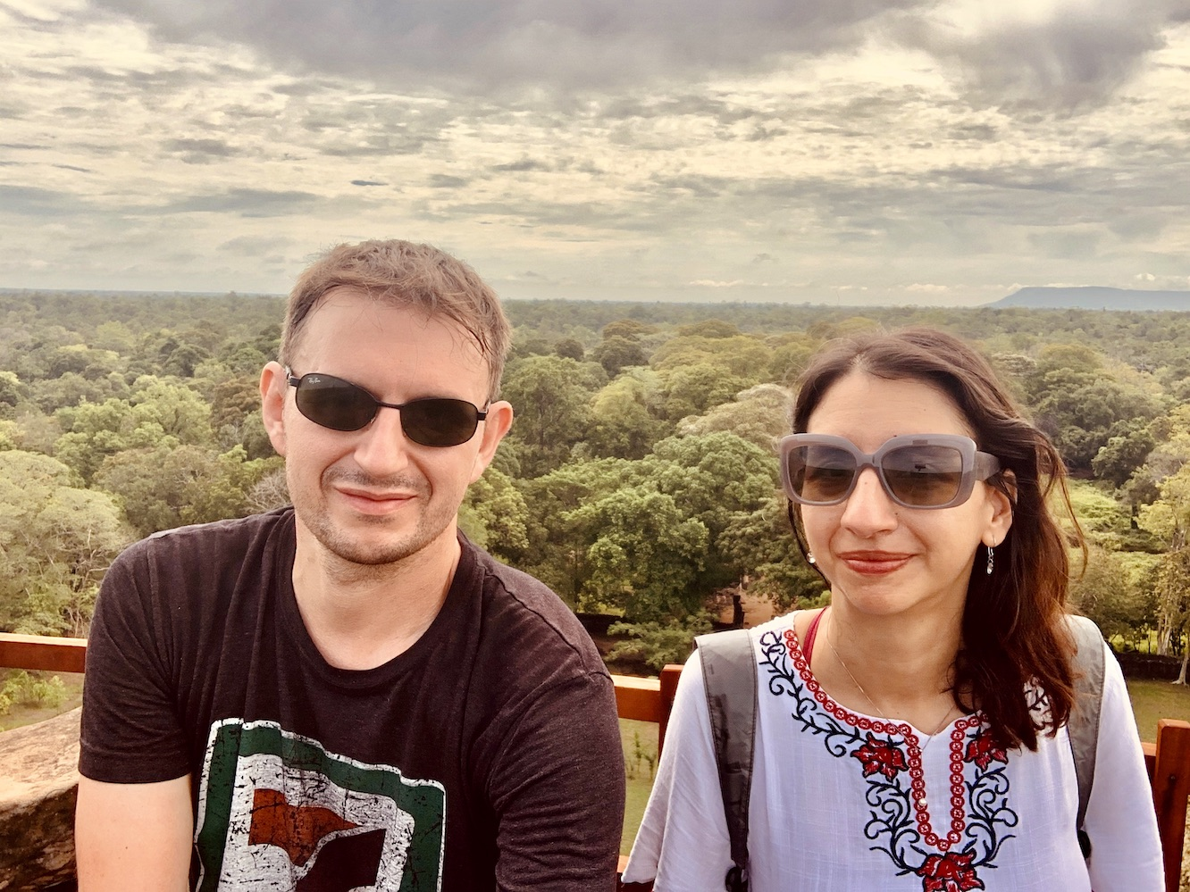 Views from Koh Ker Temple Cambodia.