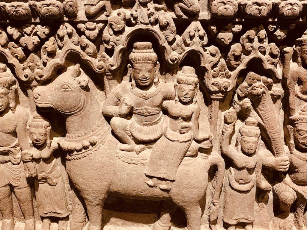 11th century sandstone lintel Cambodia.