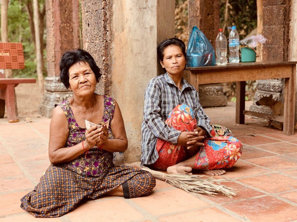 Beggars at Preah Ang Thom Pagoda Cambodia.