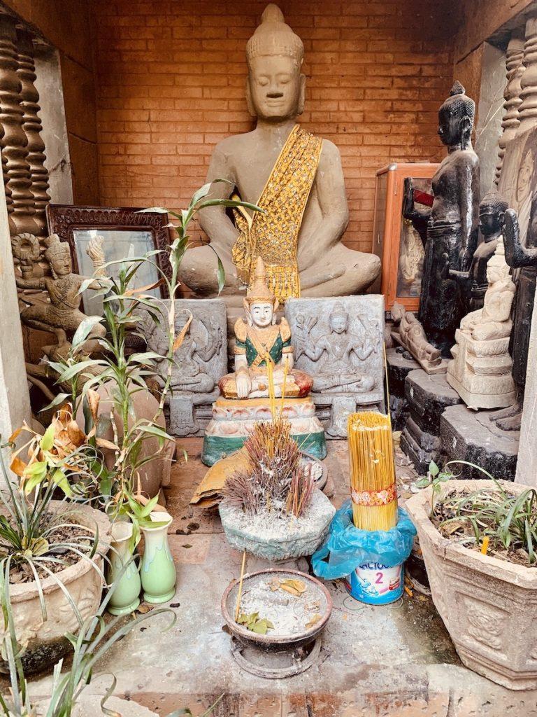 Buddhist shrine Dy Proeung Siem Reap.