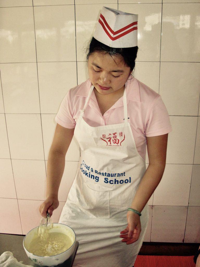 Chinese cooking class Yangshuo China.