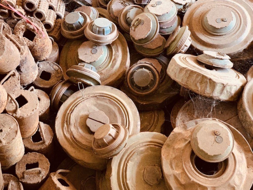 Deactivated landmines Cambodia.
