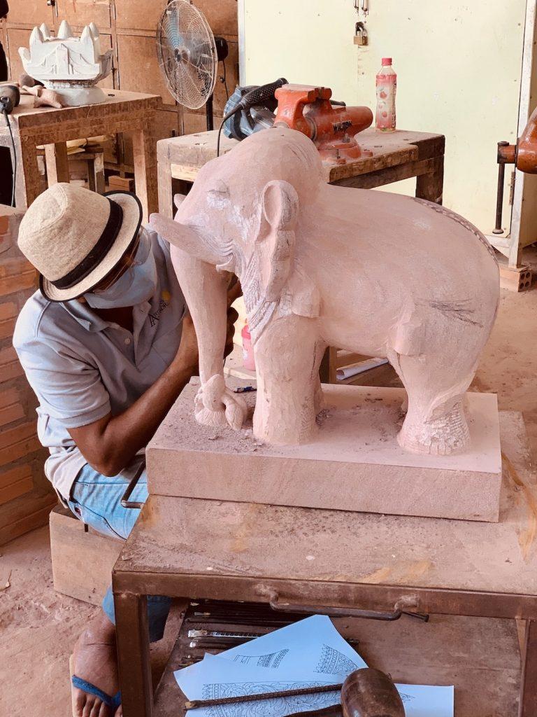 Elephant sculpture Siem Reap.